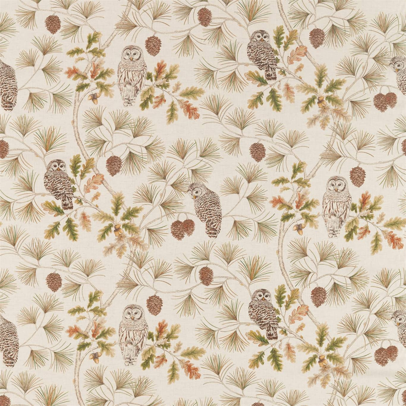 Image of Sanderson Owlswick Briarwood Curtain Fabric 226525