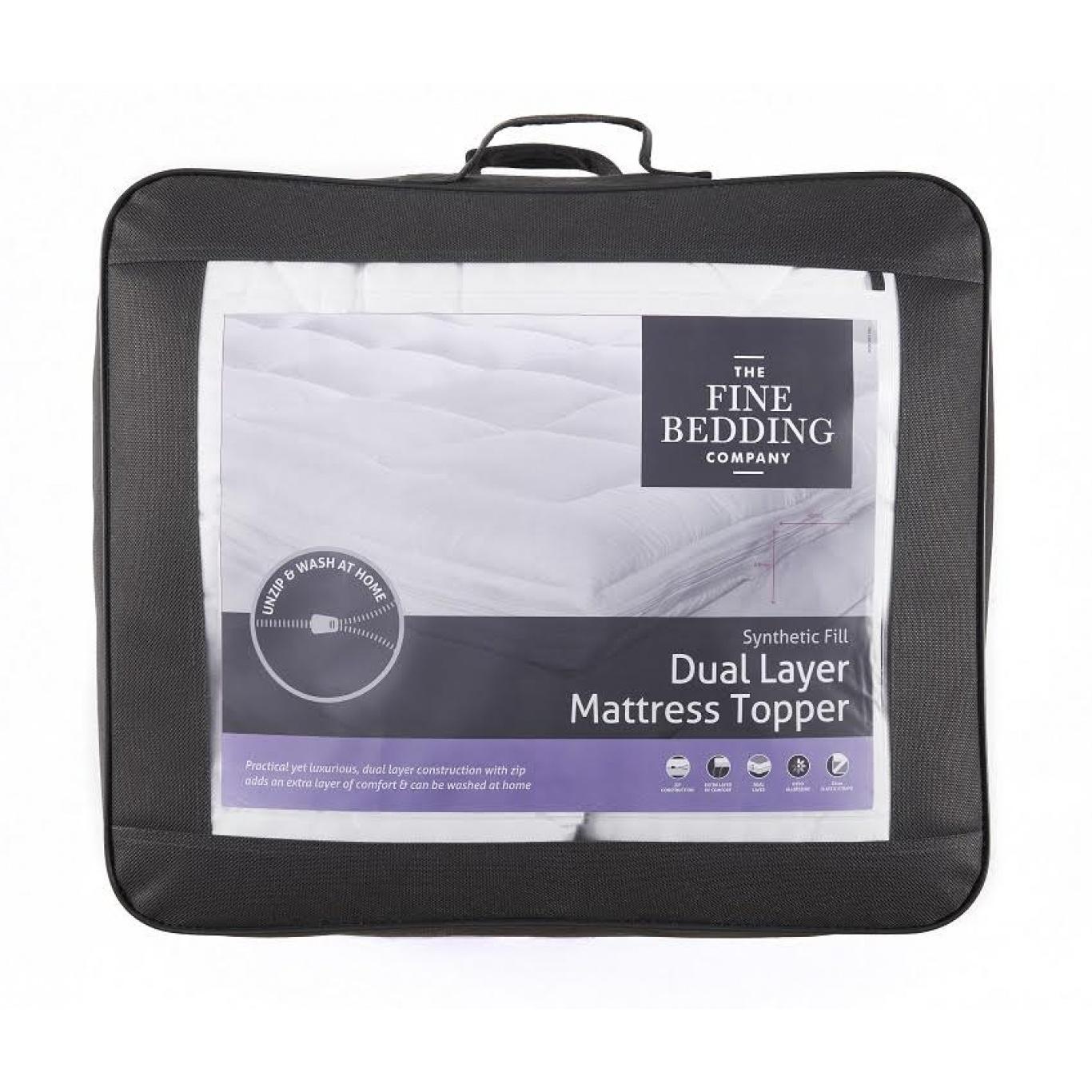 Image of Dual Layer Single Mattress Topper