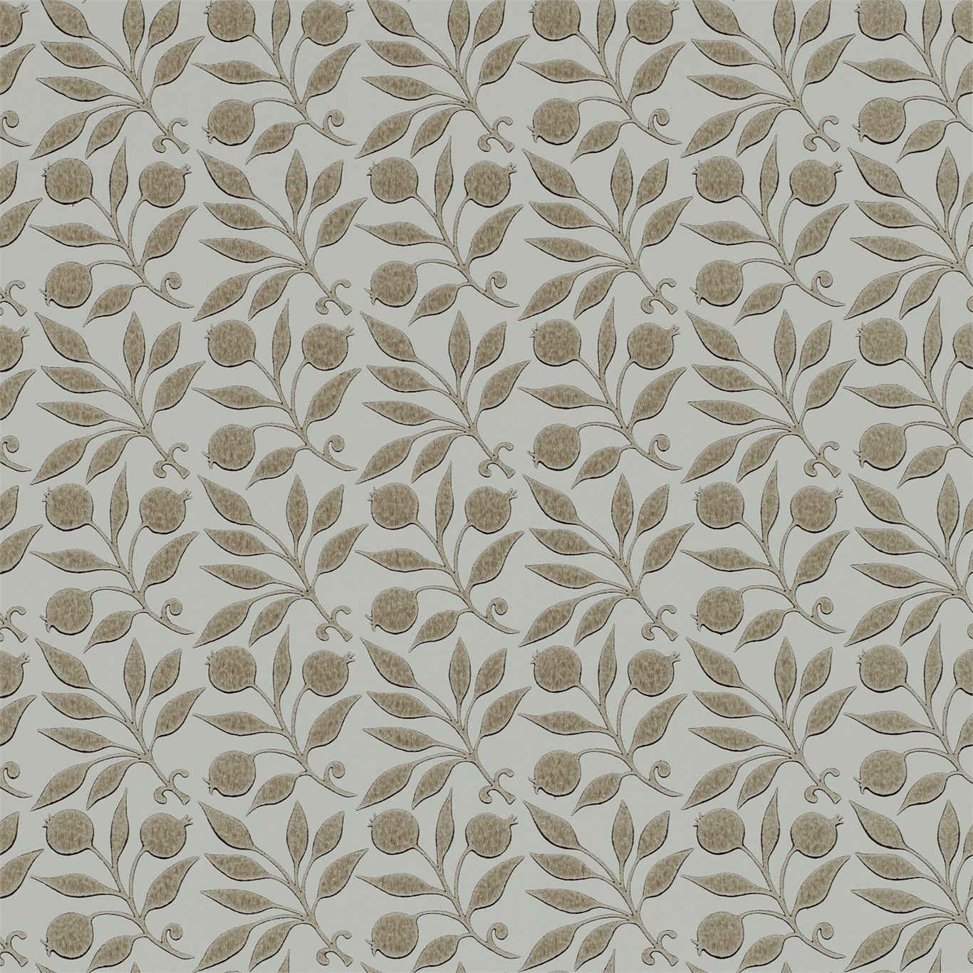 Image of Morris & Co Rosehip Linen Wallpaper 214709