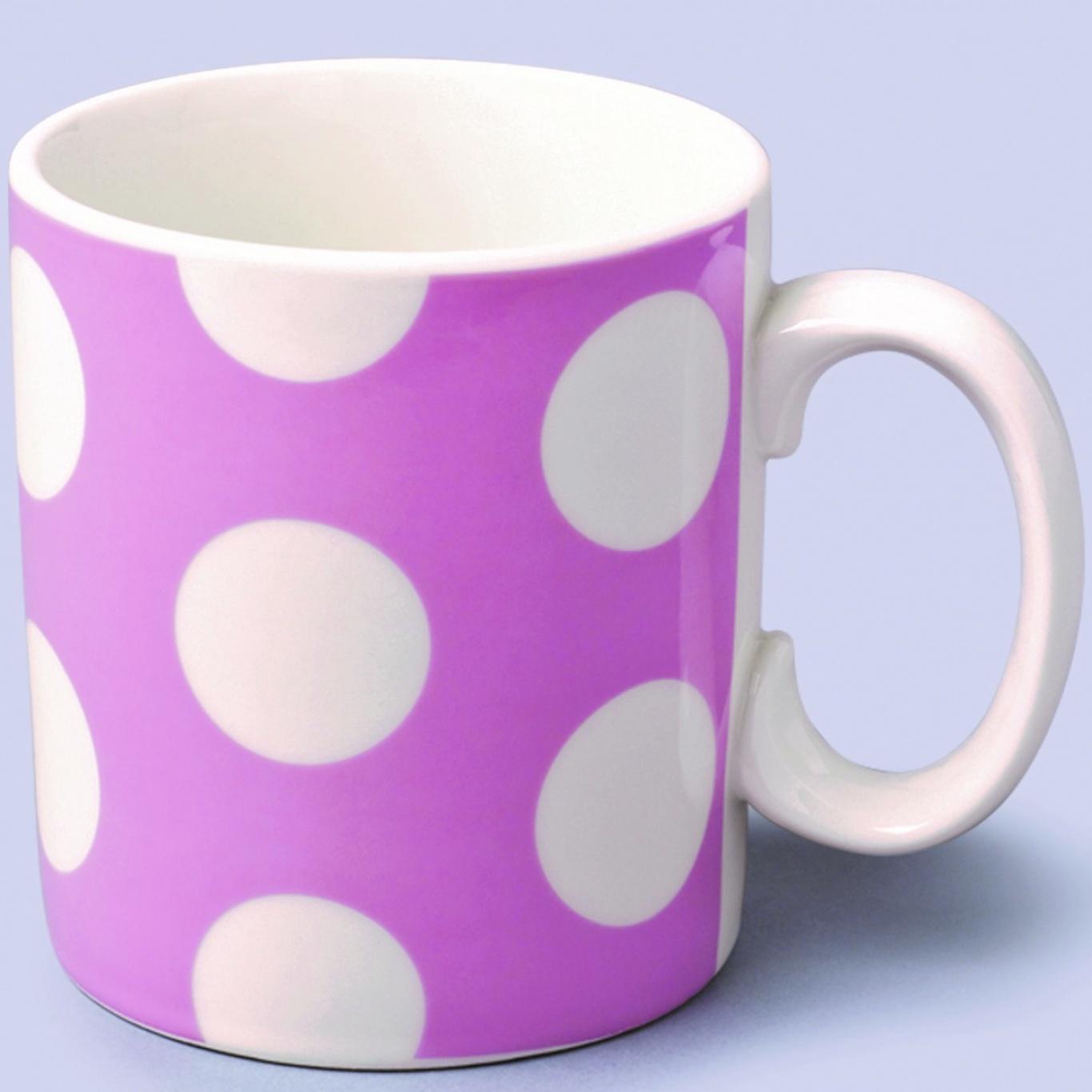 Image of 1 Pint Extra Large Mug Pink Spot
