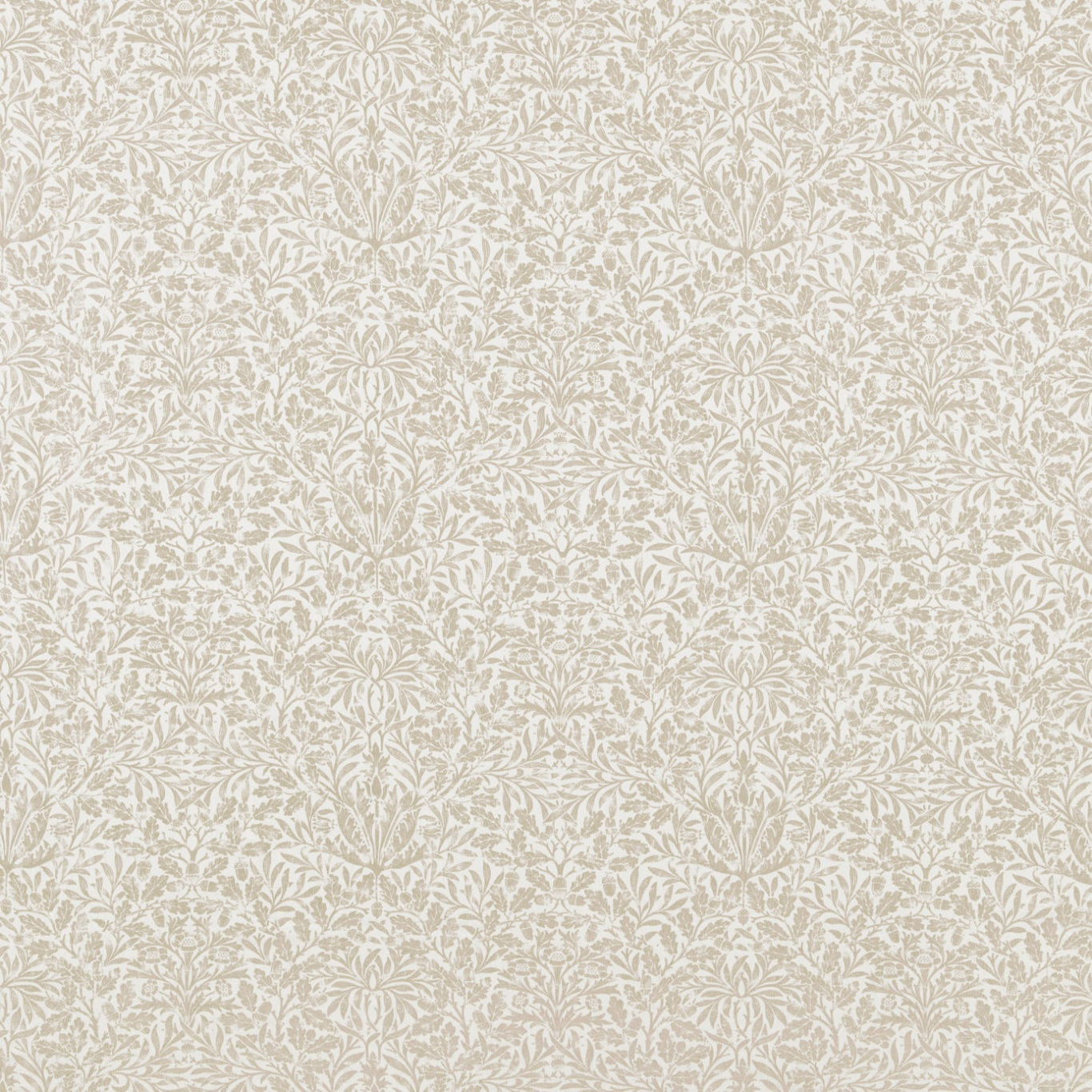 Image of Morris & Co Pure Acorn Linen Fabric 236062