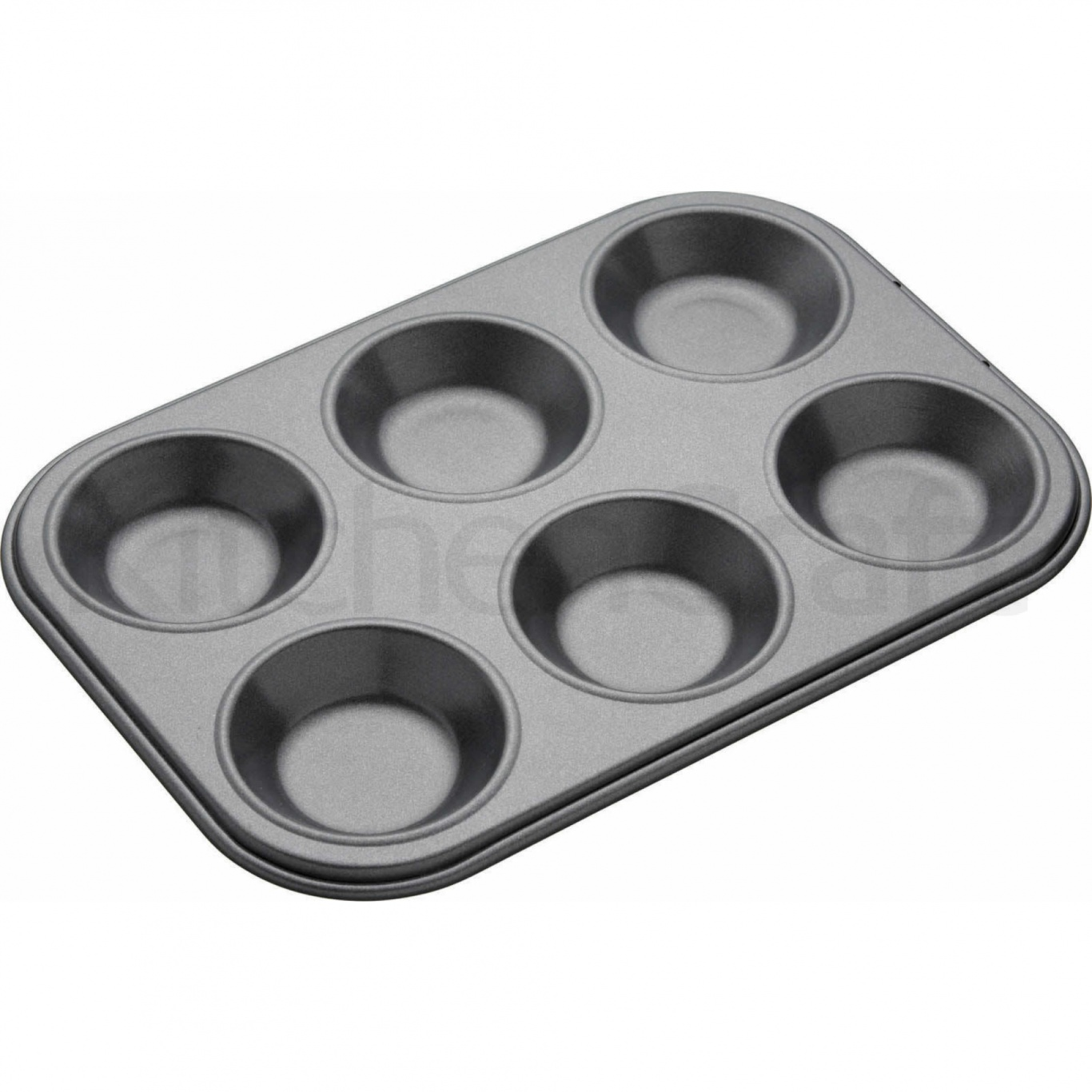 Image of Non Stick Shallow 6 Hole Baking Pan