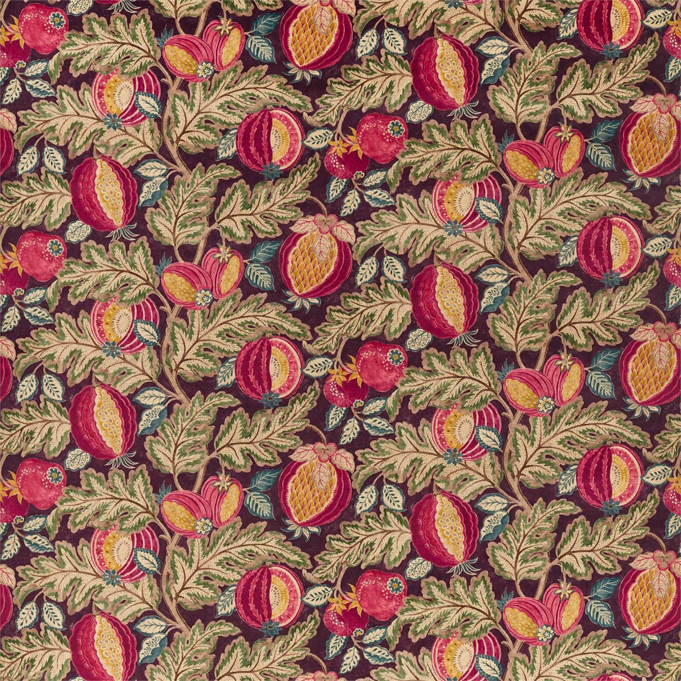 Image of Sanderson Cantaloupe Velvet Cherry/Alabaster Fabric 226635