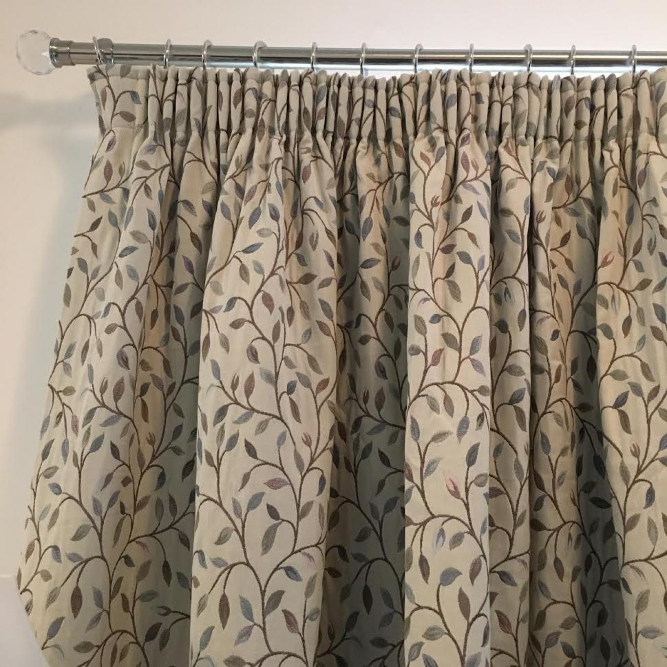 Image of Voyage Cervino Blush Pencil Pleat Blackout Curtains 2 Widths 155cm Drop