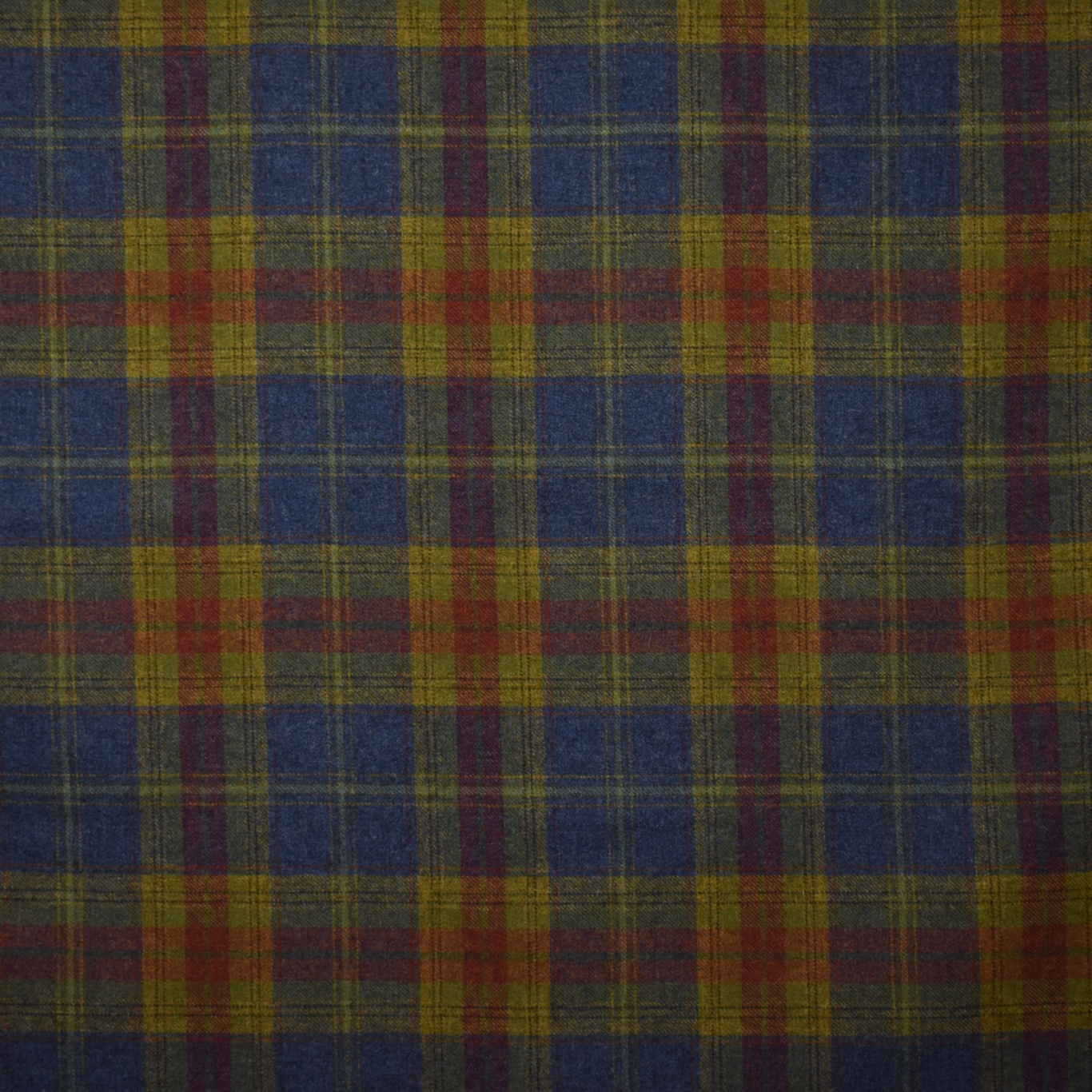 Image of Chess Designs Balmoral Thistle Blue Fabric